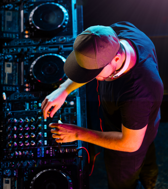 Entertainment for any event - DJ overhead square