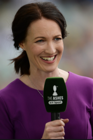 Cricket commentator Alison Mitchell