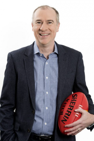 Sports presenter Gerard Whateley